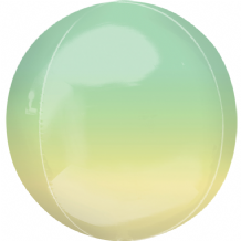 "Ombre Orbz Balloon - Yellow & Green Ombre Orbz (15"") 1pc"